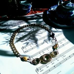 Jewelry - Handmade Upcycled Assemblage Style Chain Choker